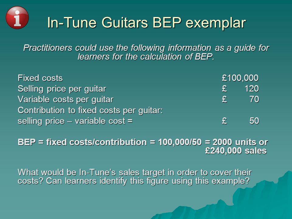 In-Tune Guitars BEP exemplar