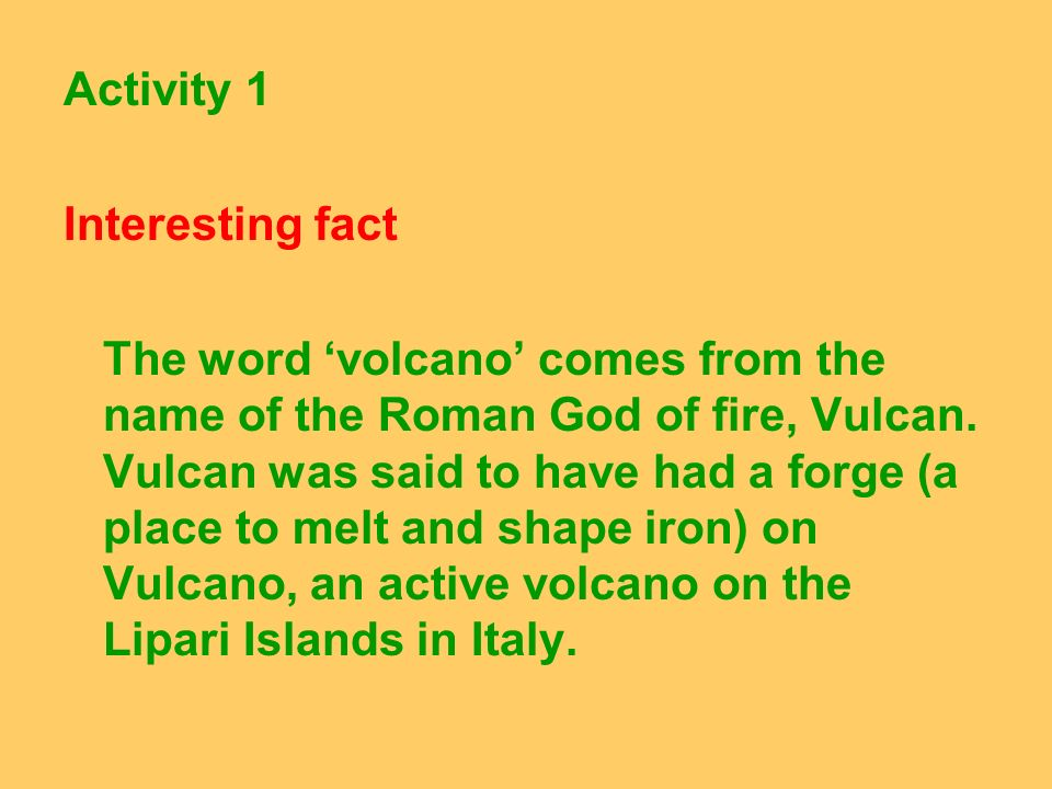 Activity 1 Interesting fact.