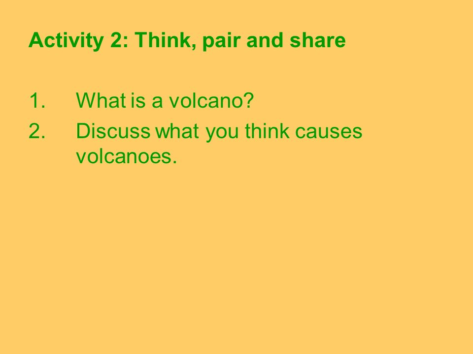 Activity 2: Think, pair and share