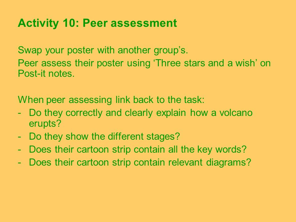 Activity 10: Peer assessment