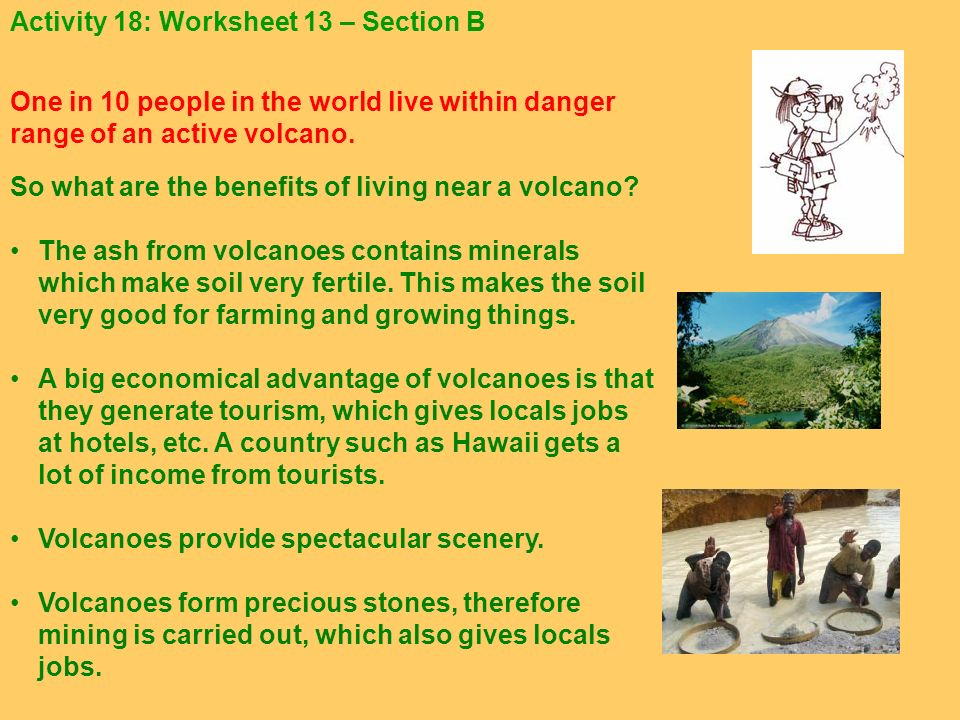 Activity 18: Worksheet 13 – Section B