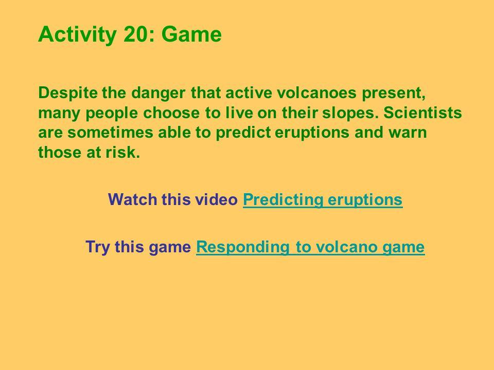 Activity 20: Game