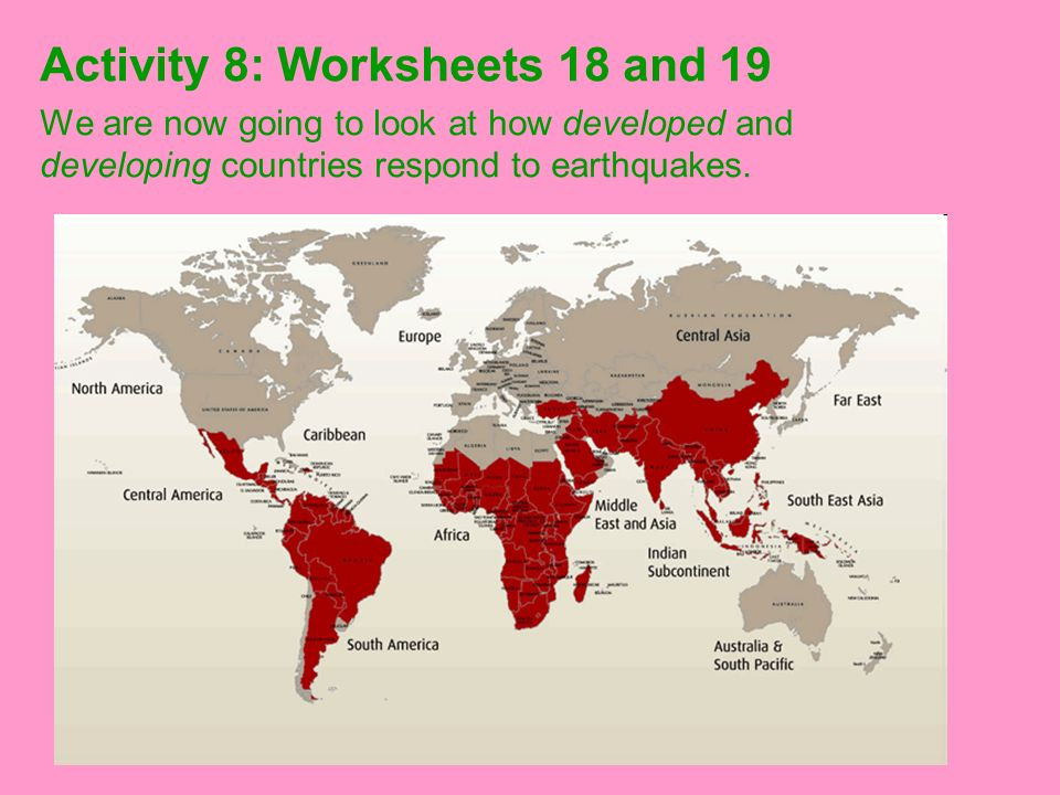 Activity 8: Worksheets 18 and 19