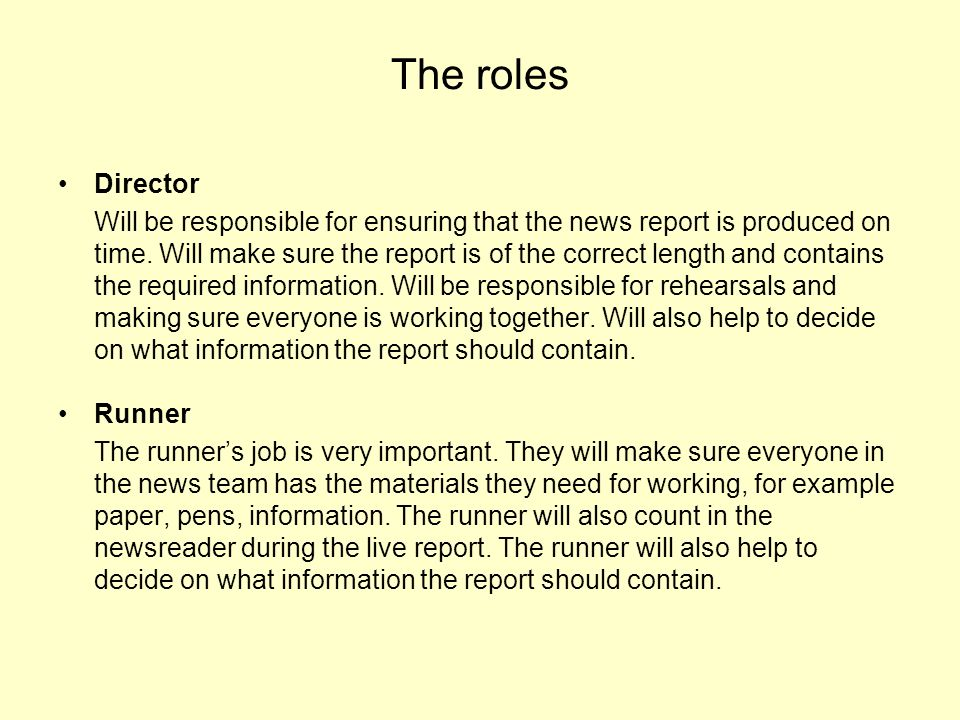 The roles Director.