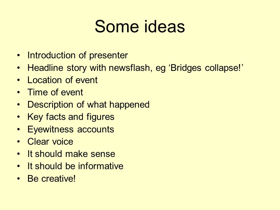 Some ideas Introduction of presenter