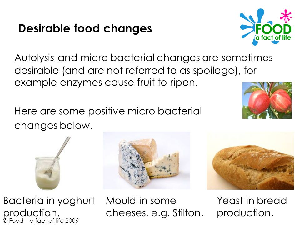 Desirable food changes