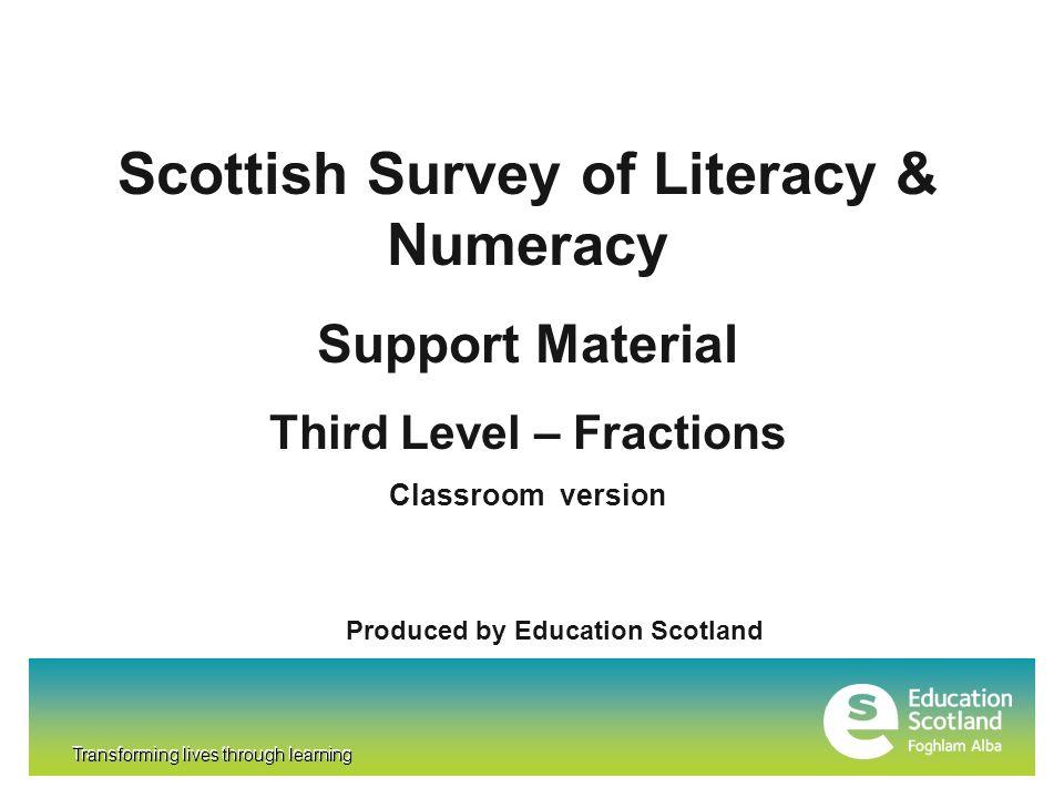 Scottish Survey of Literacy & Numeracy