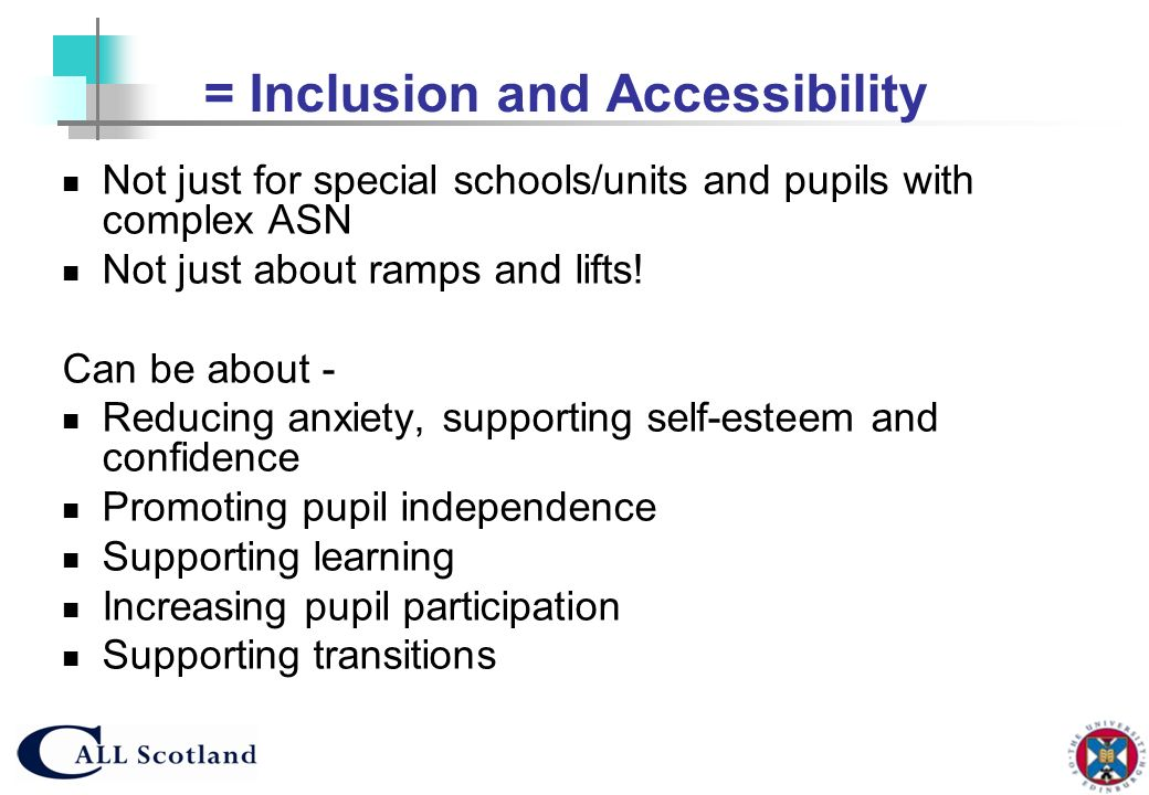 = Inclusion and Accessibility