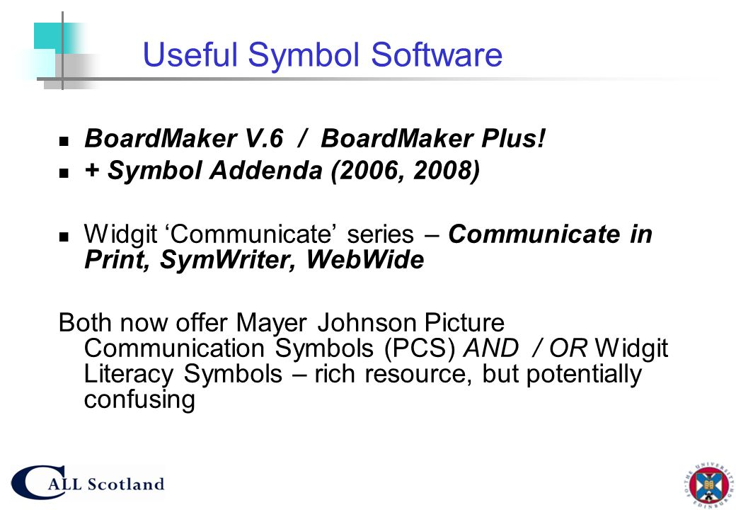 Useful Symbol Software
