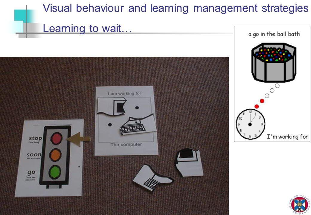 Visual behaviour and learning management strategies