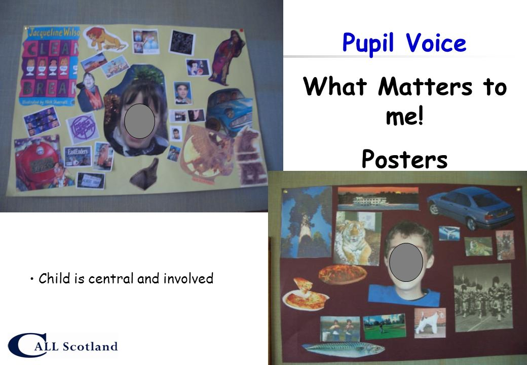 Pupil Voice What Matters to me! Posters