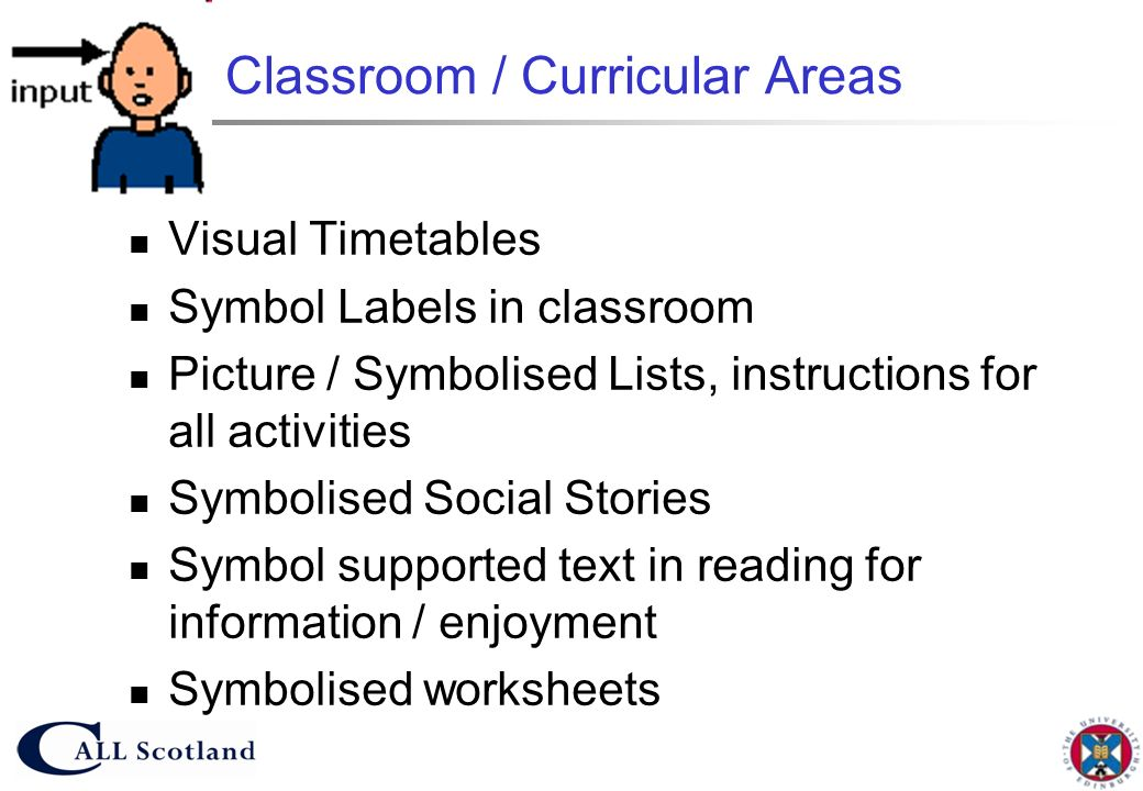 Classroom / Curricular Areas