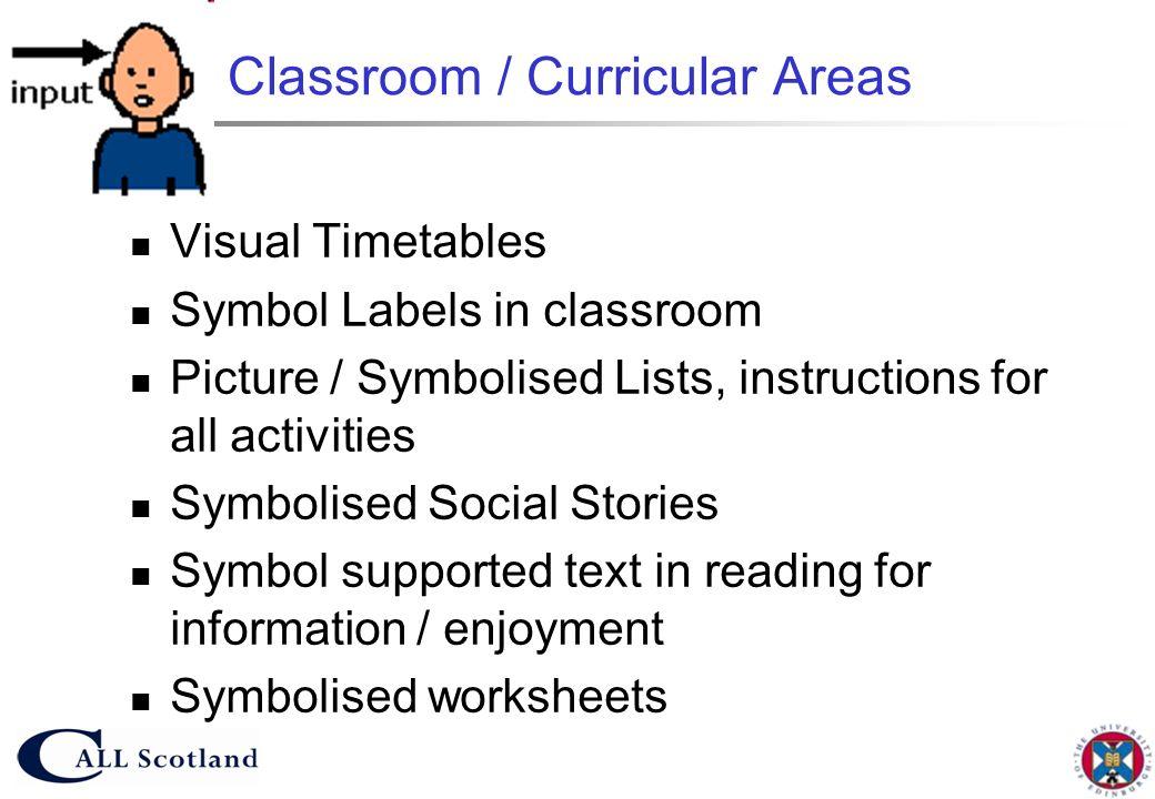 Classroom / Curricular Areas