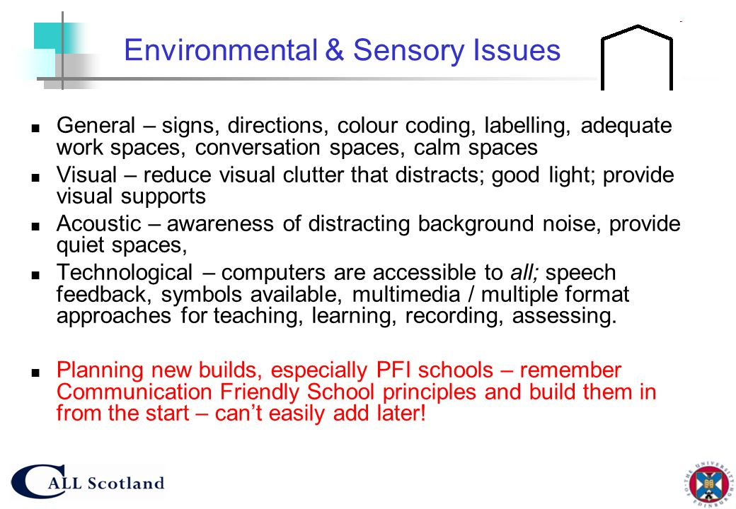 Environmental & Sensory Issues