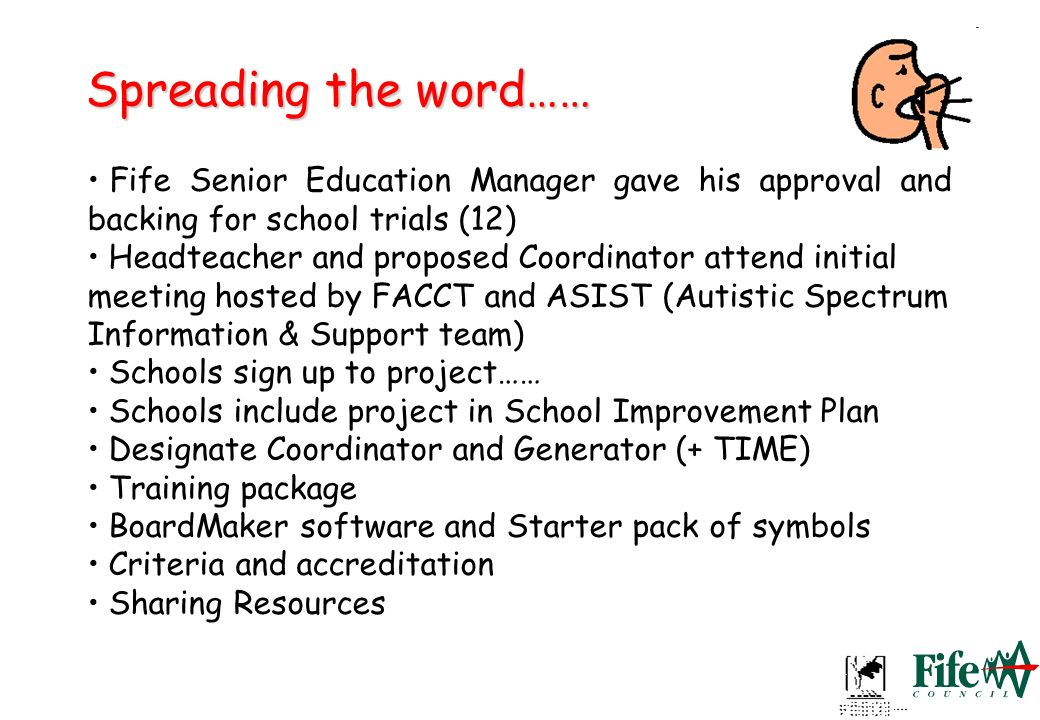 Spreading the word……Fife Senior Education Manager gave his approval and backing for school trials (12)