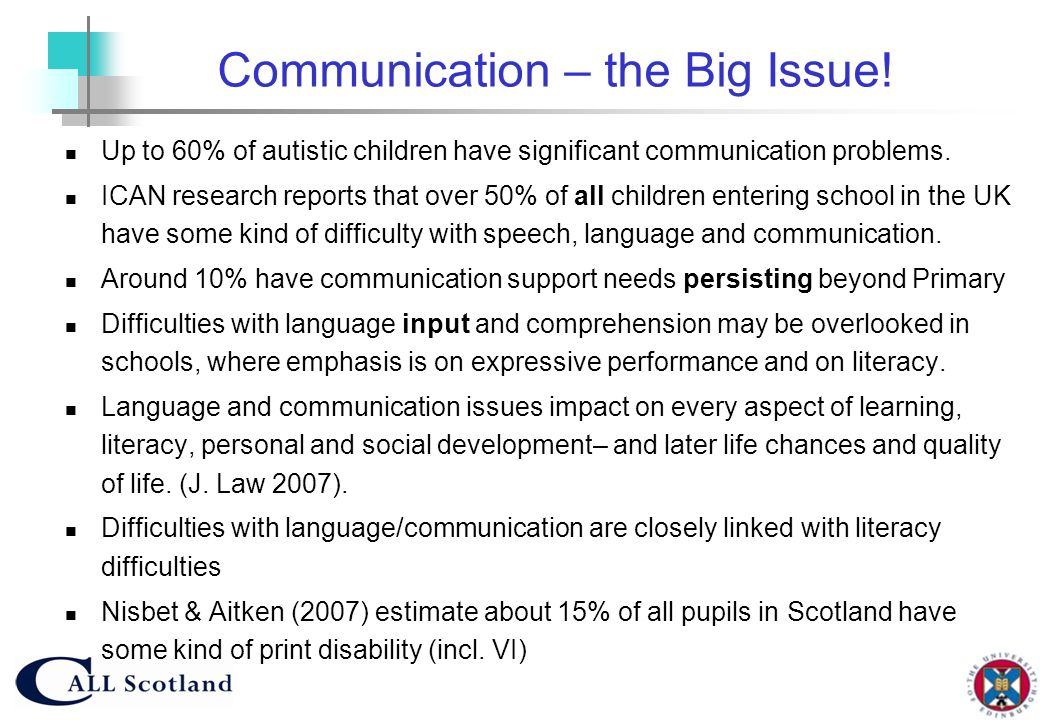 Communication – the Big Issue!
