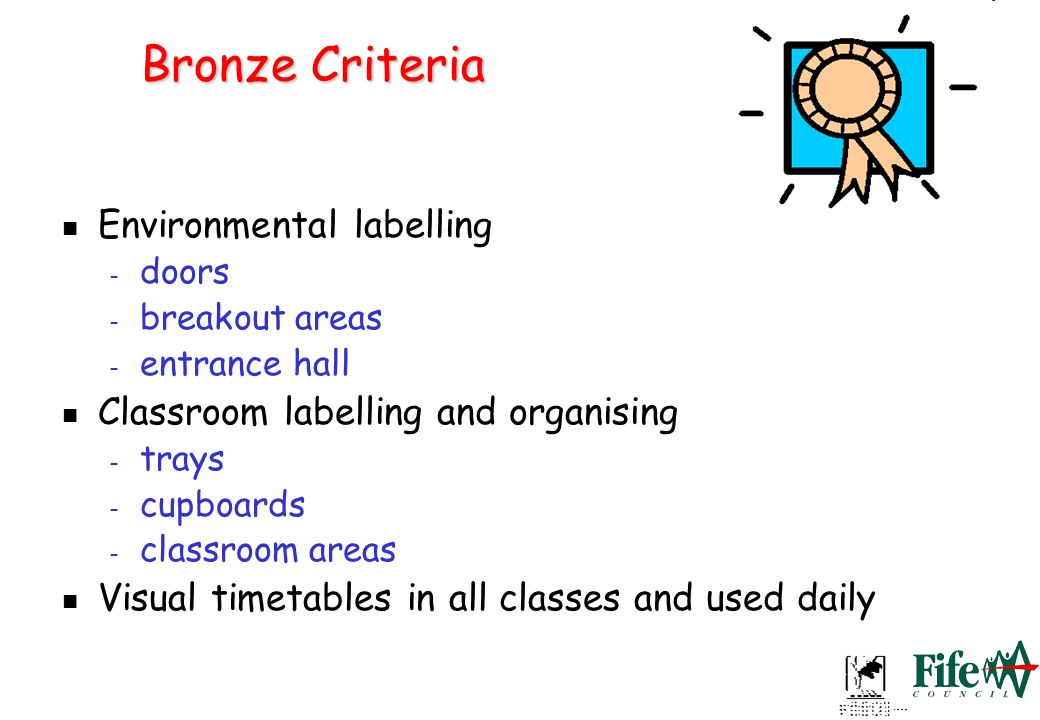 Bronze Criteria Environmental labelling