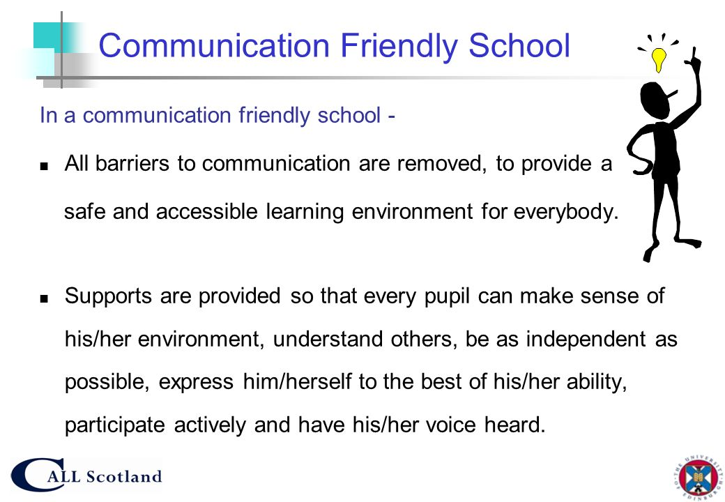 Communication Friendly School