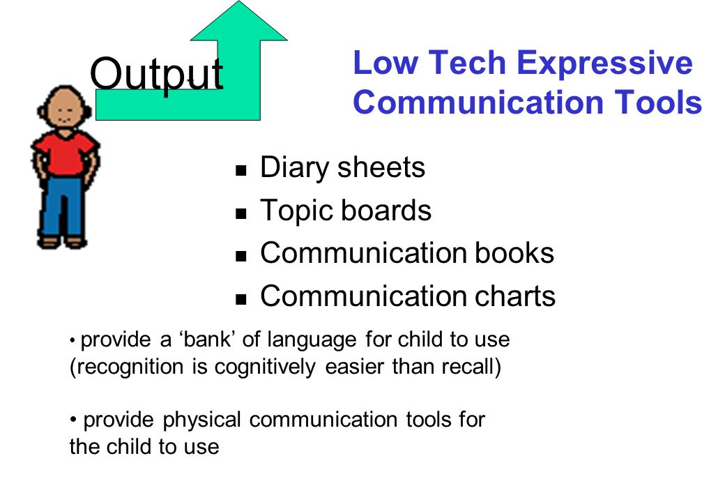 Low Tech Expressive Communication Tools