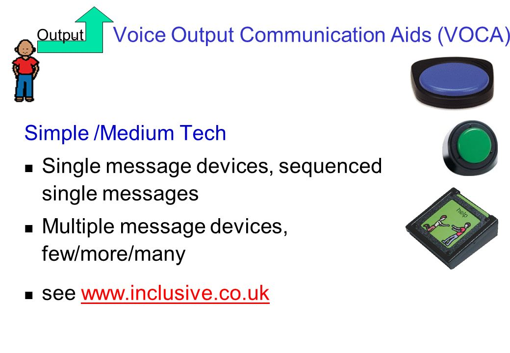 Voice Output Communication Aids (VOCA)