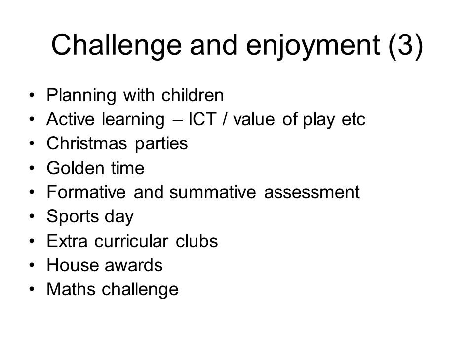 Challenge and enjoyment (3)