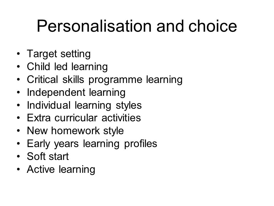 Personalisation and choice