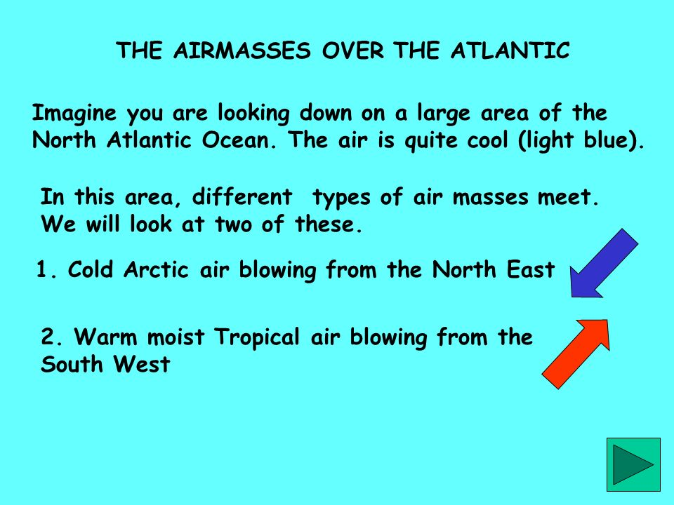 THE AIRMASSES OVER THE ATLANTIC