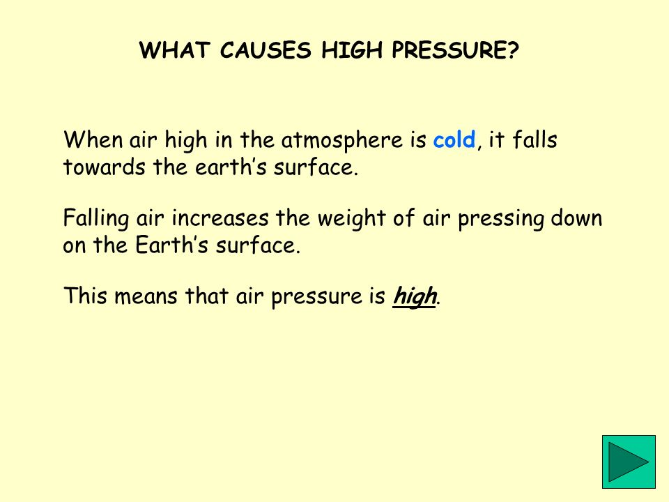 WHAT CAUSES HIGH PRESSURE