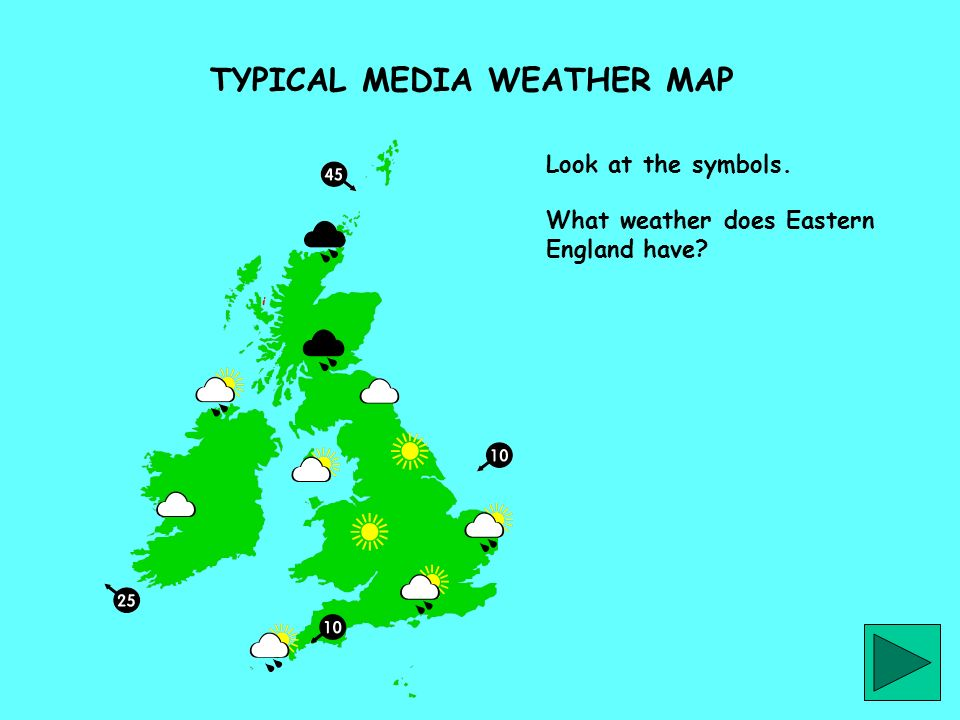 TYPICAL MEDIA WEATHER MAP