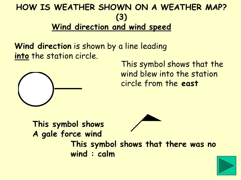 HOW IS WEATHER SHOWN ON A WEATHER MAP (3)