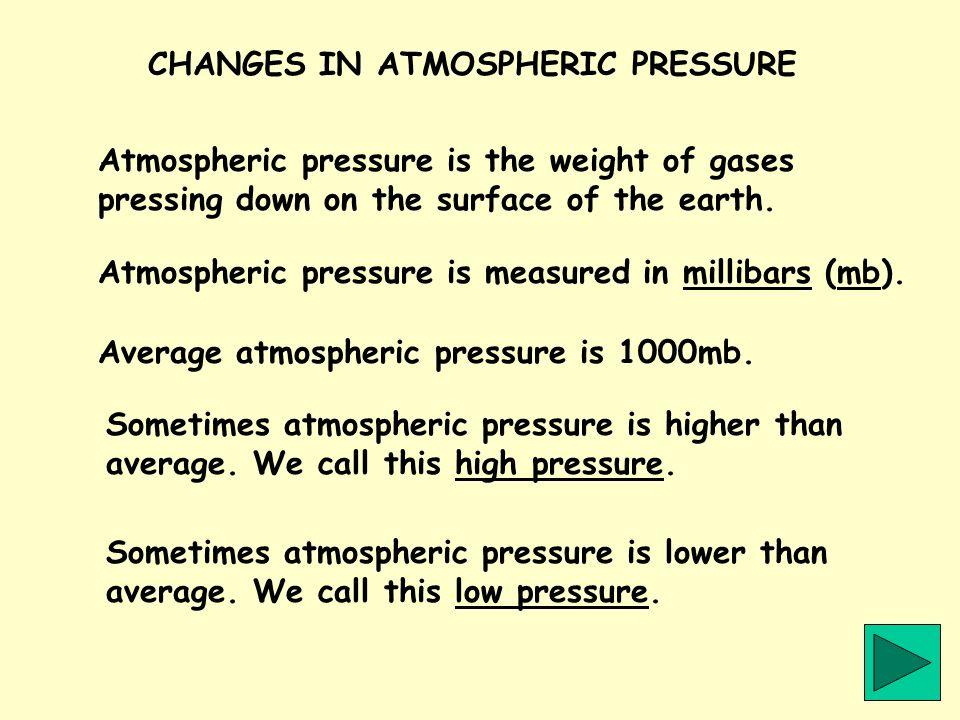 CHANGES IN ATMOSPHERIC PRESSURE