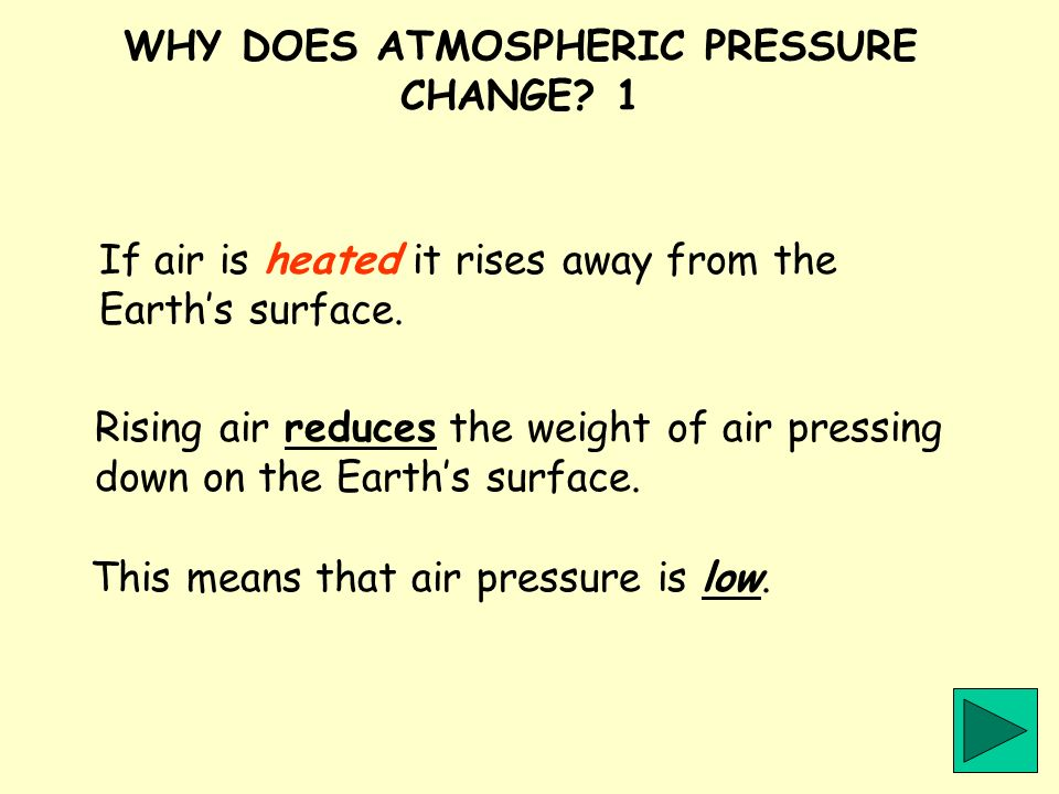 WHY DOES ATMOSPHERIC PRESSURE CHANGE 1