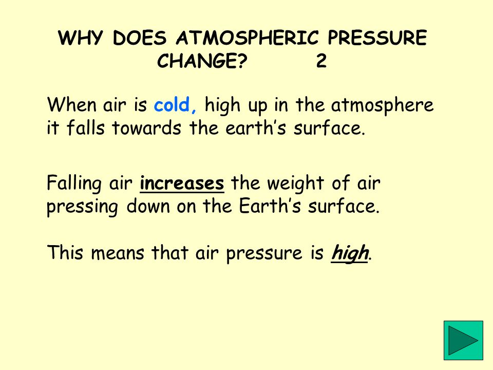 WHY DOES ATMOSPHERIC PRESSURE CHANGE 2