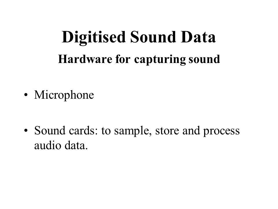 Hardware for capturing sound
