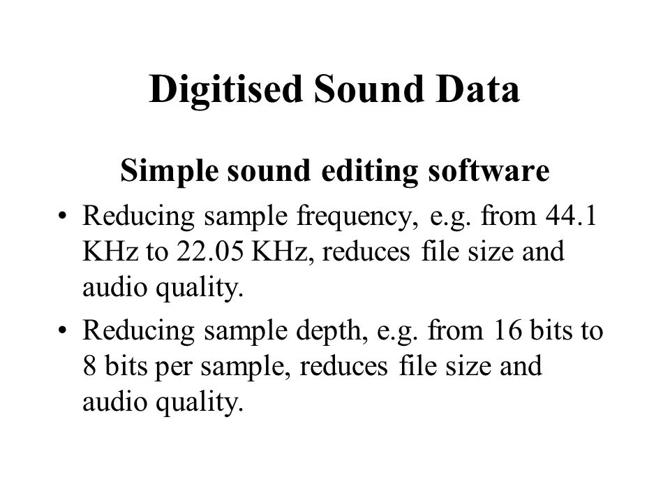 Simple sound editing software