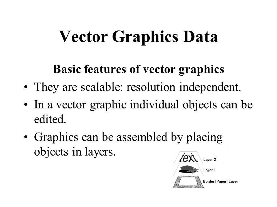 Basic features of vector graphics