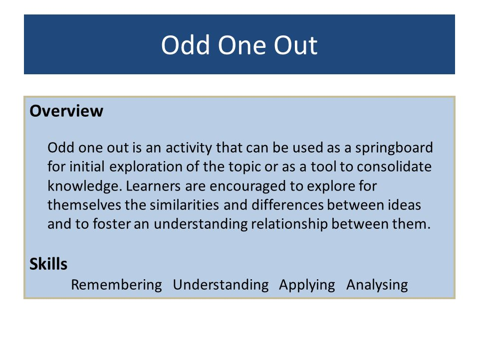Remembering Understanding Applying Analysing