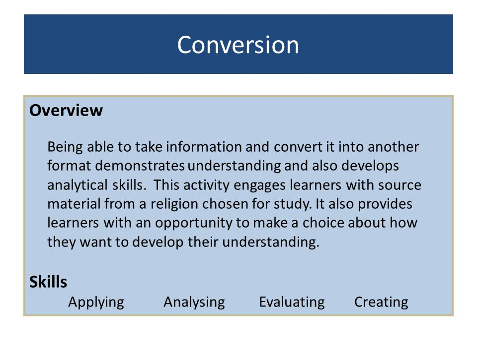 Applying Analysing Evaluating Creating