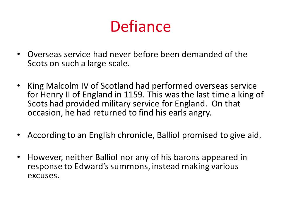 Defiance Overseas service had never before been demanded of the Scots on such a large scale.