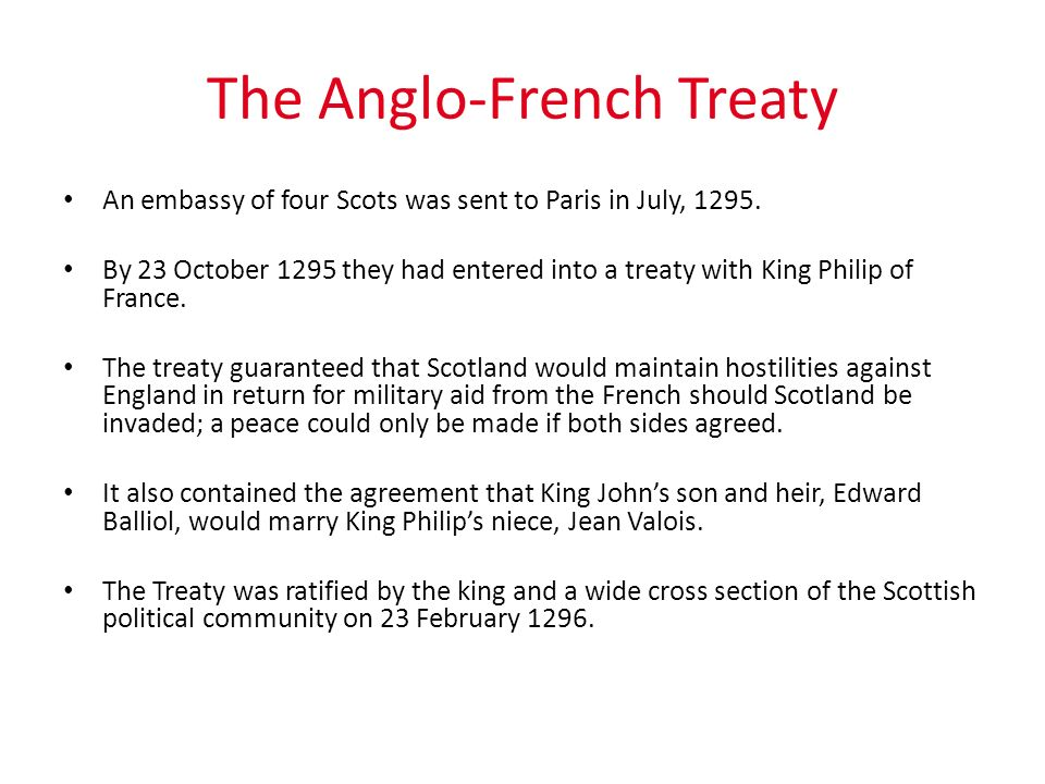 The Anglo-French Treaty
