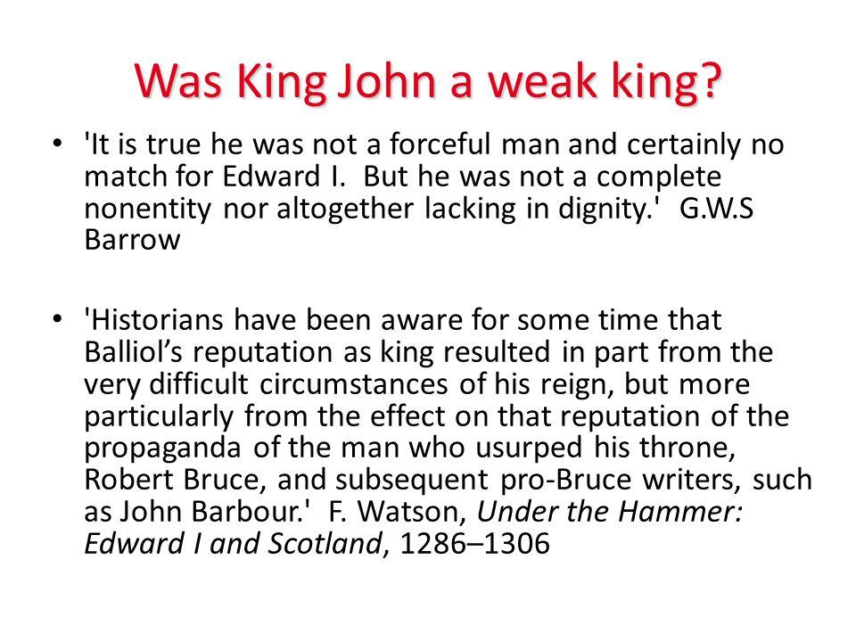 Was King John a weak king