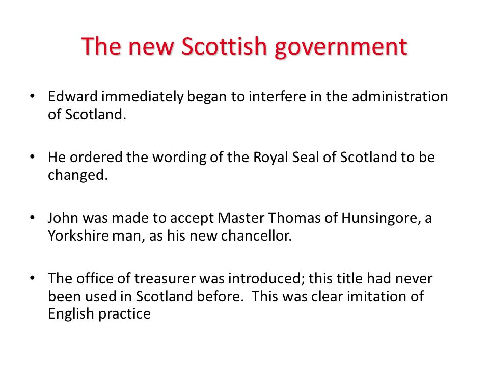 The new Scottish government