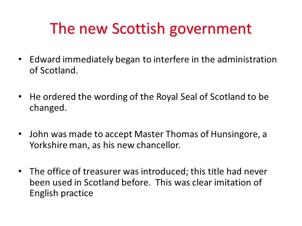 The new Scottish government