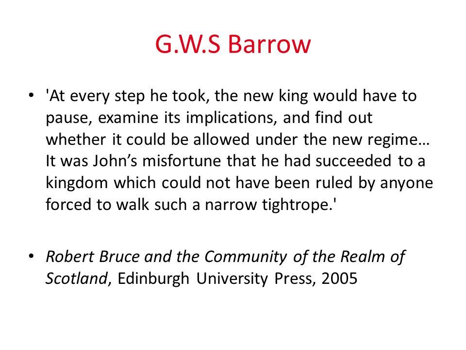 G.W.S Barrow
