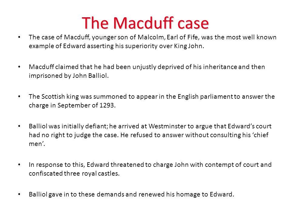 The Macduff case