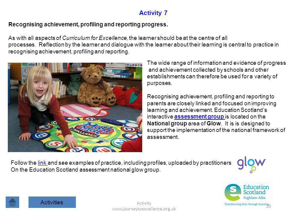 Activity www.journeytoexcellence.org.uk