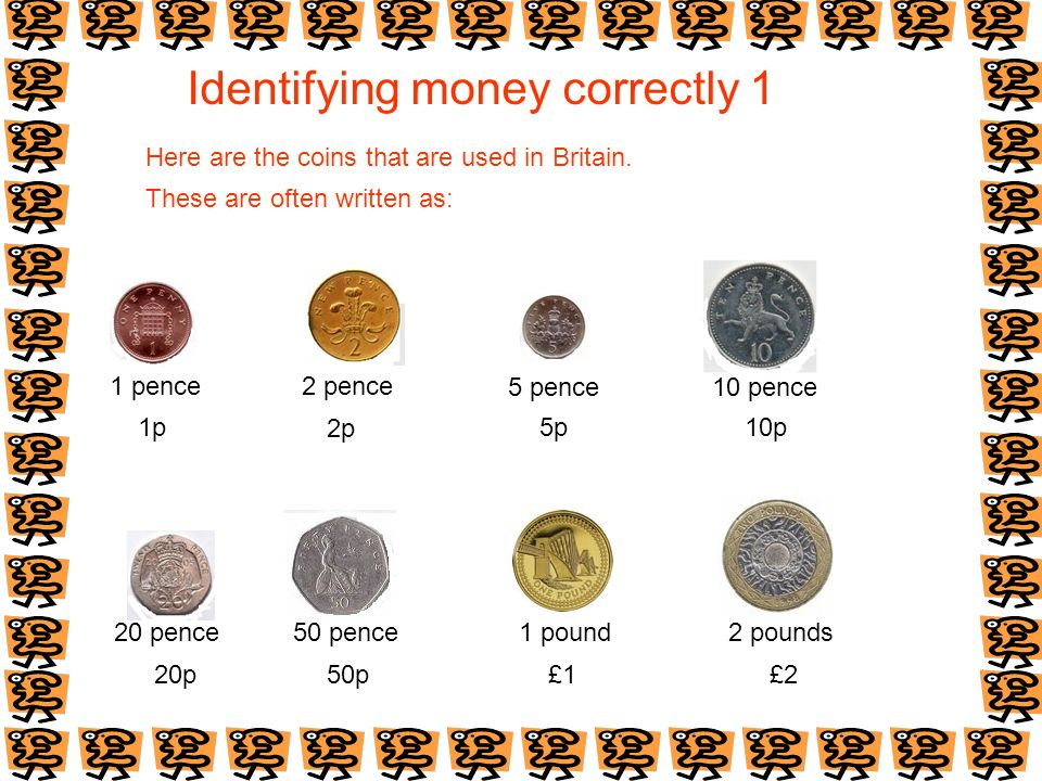 Identifying money correctly 1