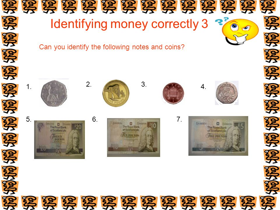 Identifying money correctly 3