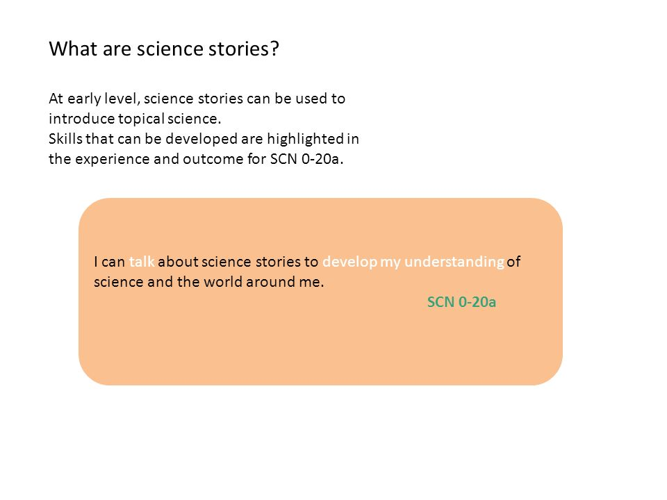 What are science stories