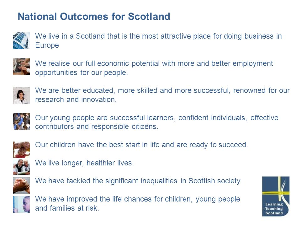 National Outcomes for Scotland